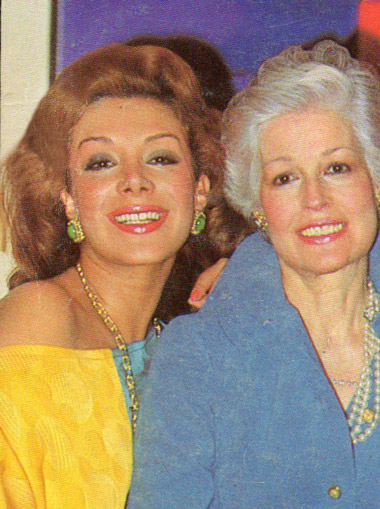 Virginia y su mamá, Mary García de Vallejo, 1983